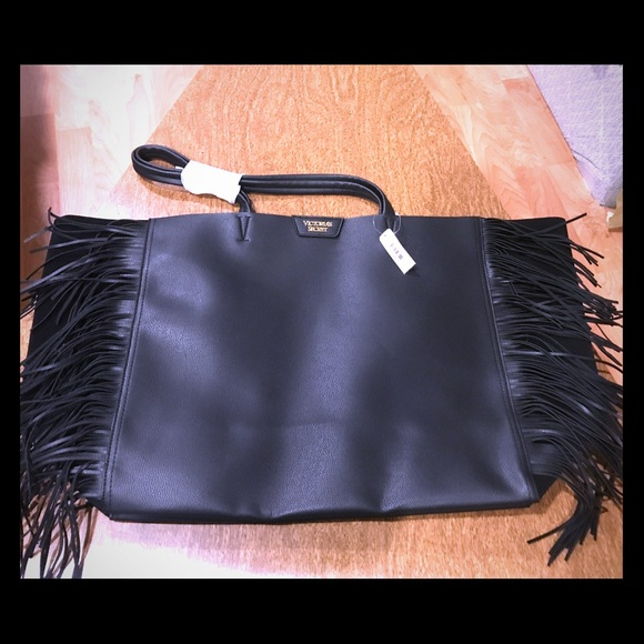 Victoria's Secret Handbags - Victoria's Secret NWT tote with fringe on front